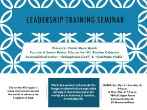 Leadership Training Seminar @ Upper Room Community Church | Kingston | St. Andrew Parish | Jamaica